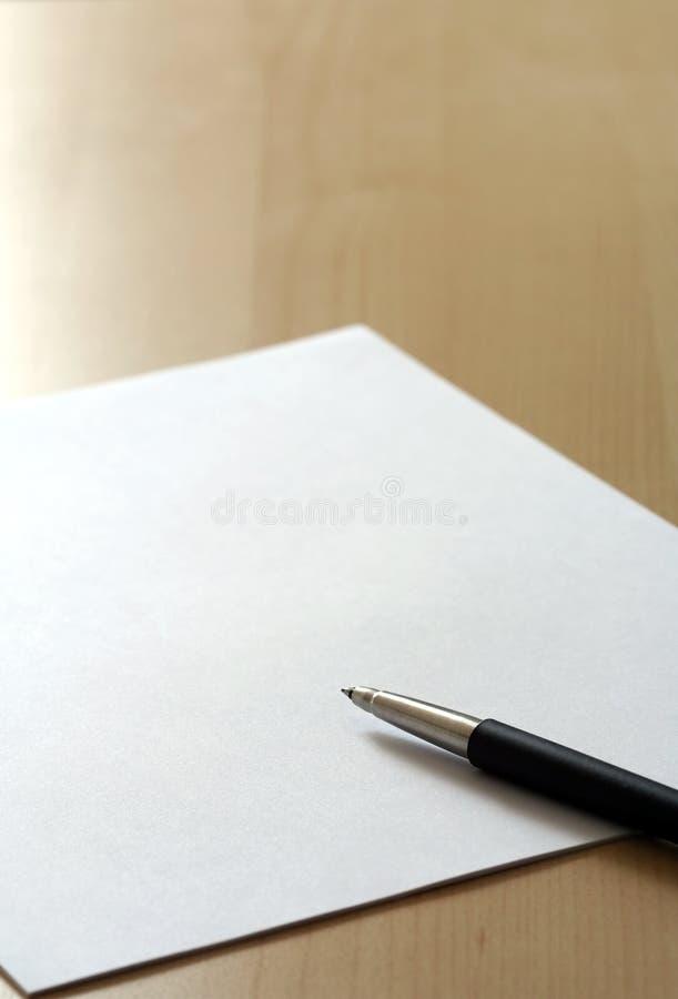 Papier d'affaires photos libres de droits
