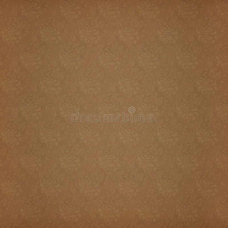 Papier d'album à fond de damassé de pivoine de cru illustration libre de droits
