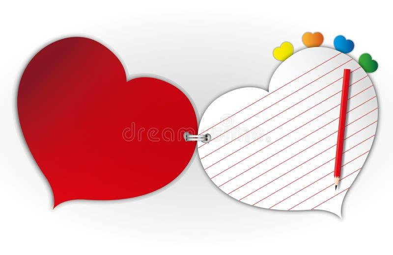 Papier d'amoureux illustration stock