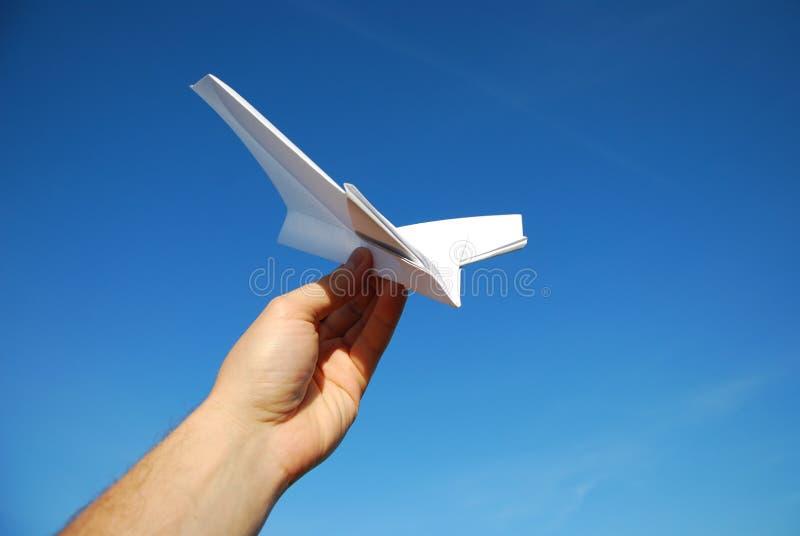 papier d'avion photographie stock