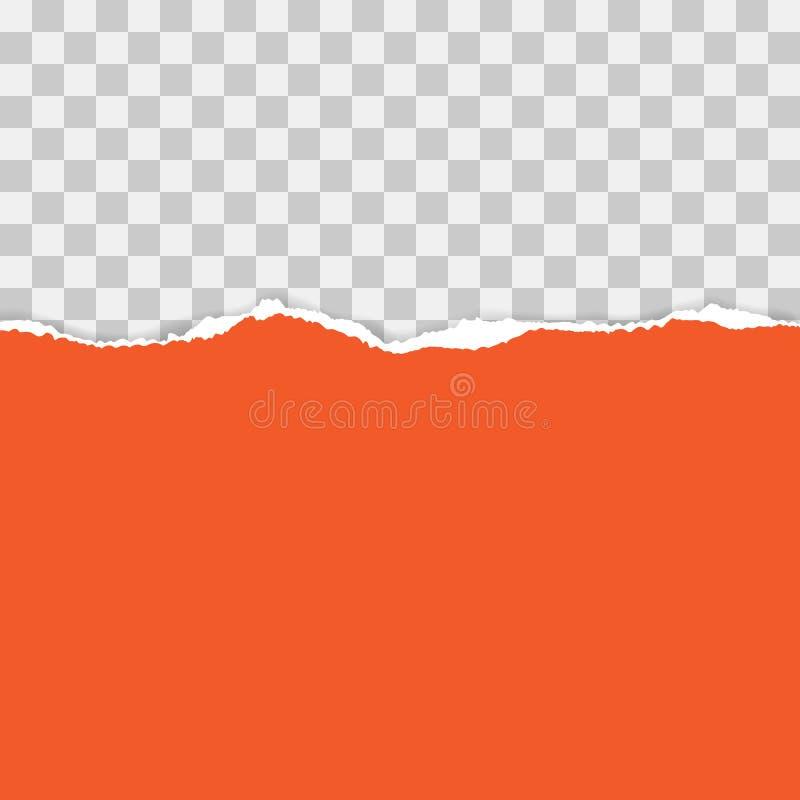 Papier d?chir? rouge Illustration de vecteur avec des ombres photo libre de droits
