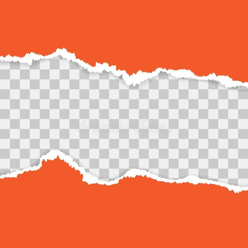 Papier d?chir? rouge Illustration de vecteur avec des ombres illustration de vecteur