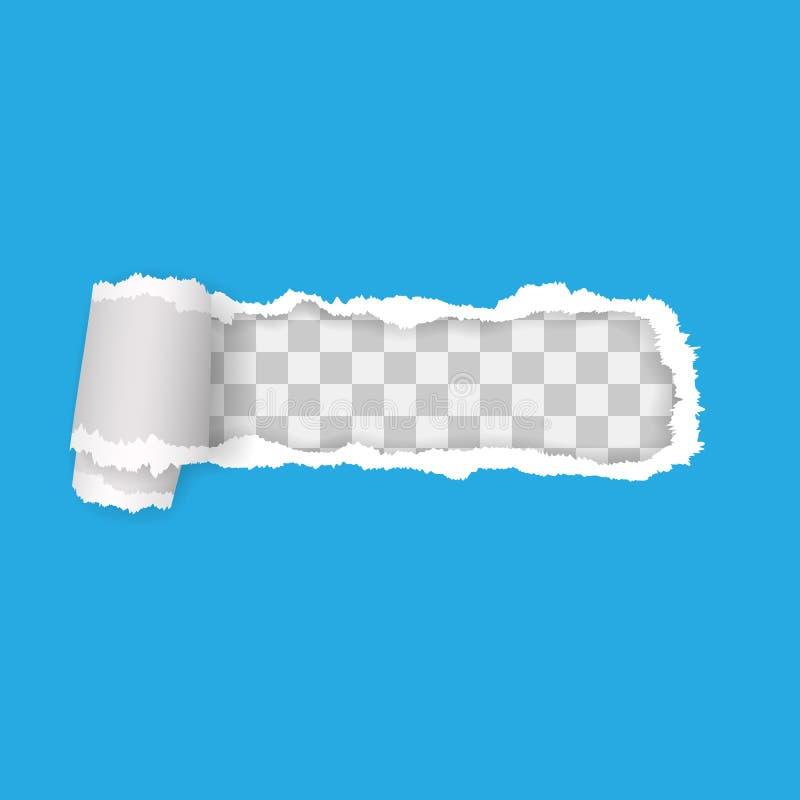 Papier d?chir? transparent Illustration de vecteur avec des ombres illustration de vecteur