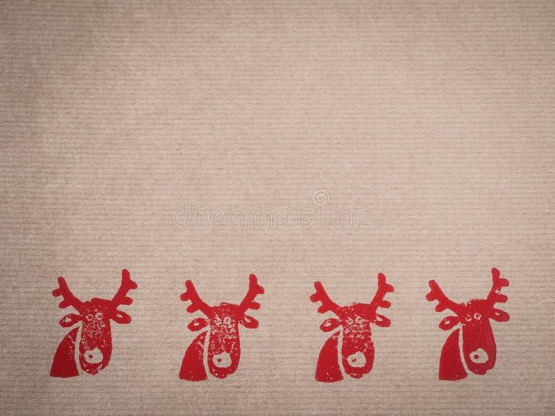 Papier d'emballage avec le motif, rouge, embouti image libre de droits