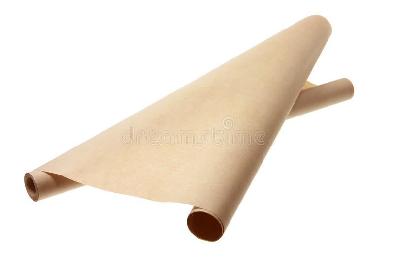 Papier d'emballage de Brown photo stock