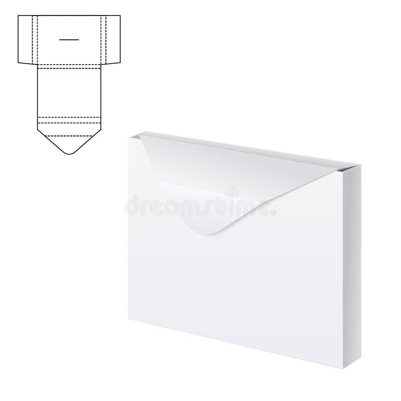 Papier d'enveloppe ou boîte A de métier illustration stock