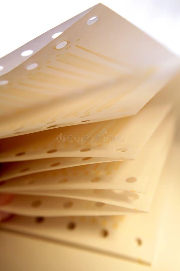 Papier D Imprimante Photos libres de droits