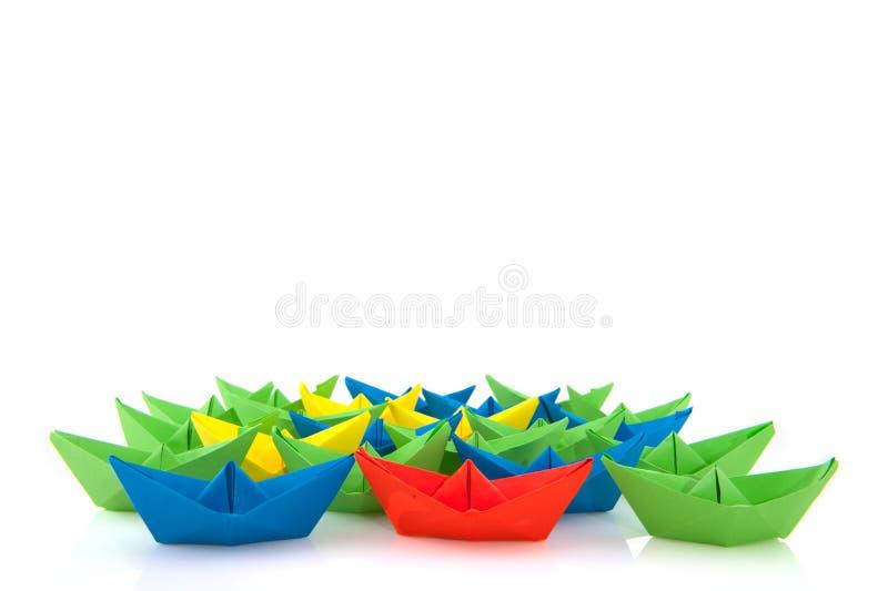 papier de bateaux photo stock