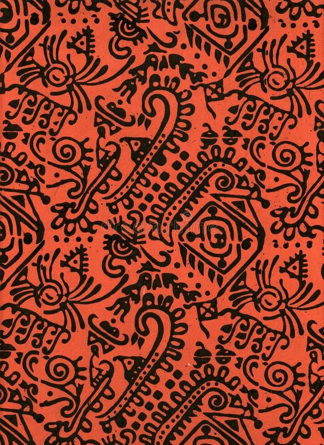 Papier de bloc en bois de l'Inde image stock