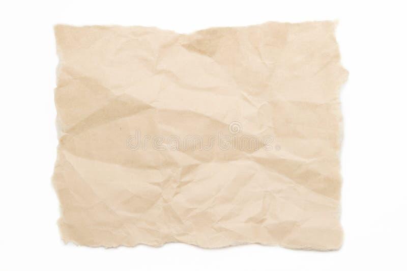 Papier de Brown photographie stock libre de droits