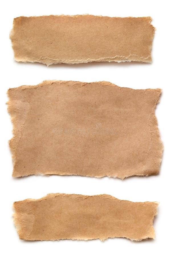 Papier de Brown déchiré image stock