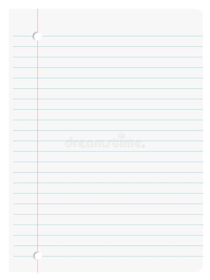 papier de cahier illustration stock