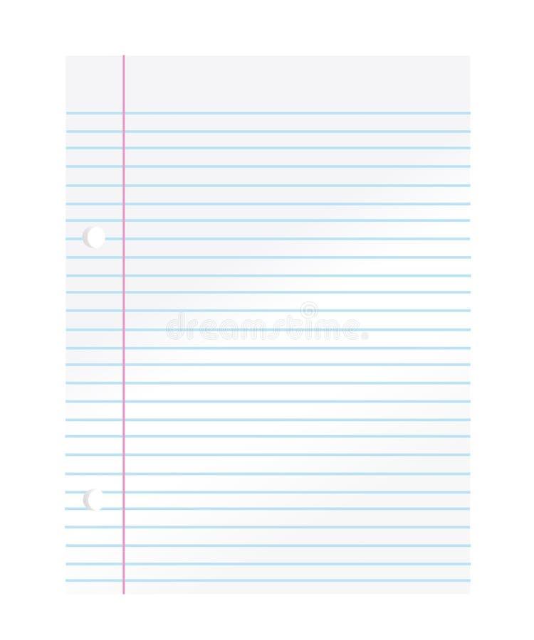Papier de cahier illustration libre de droits