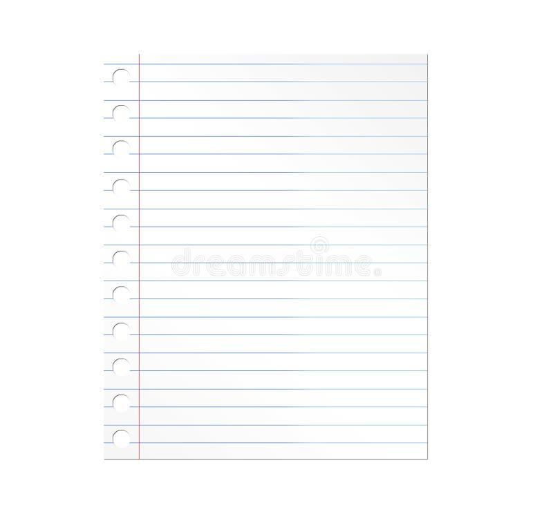 Papier de cahier illustration de vecteur