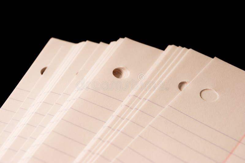 Papier de cahier images stock