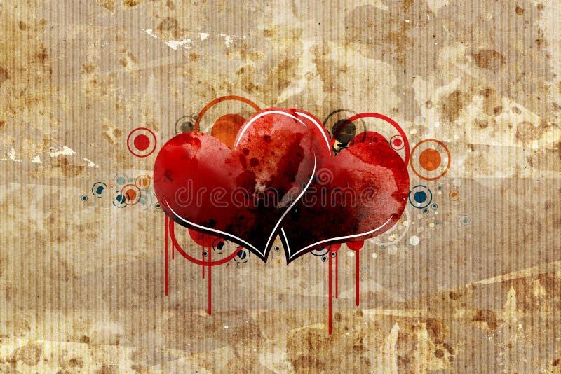 Papier de carton avec le coeur illustration libre de droits