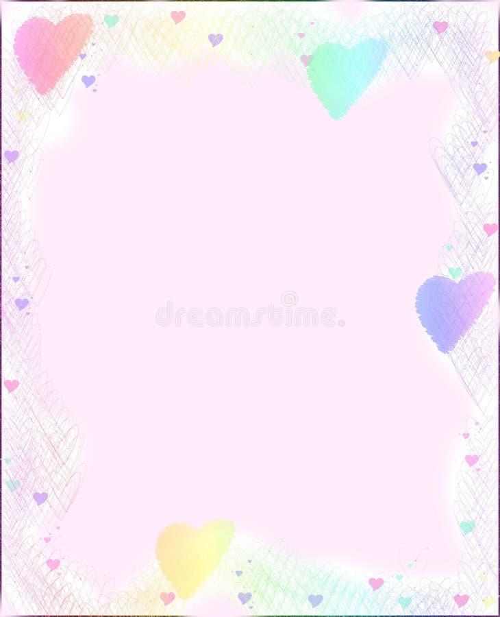 Papier de coeur illustration de vecteur
