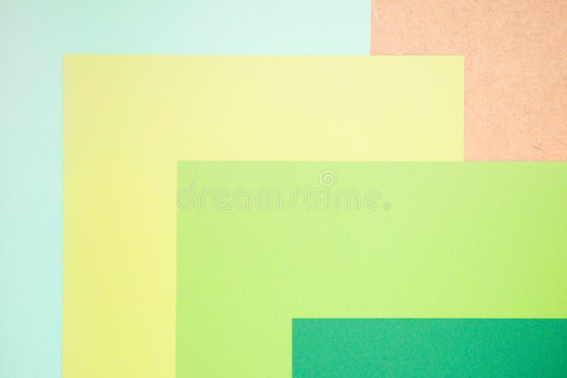Papier de couleur bleue, jaune et verte, fond abstrait image libre de droits