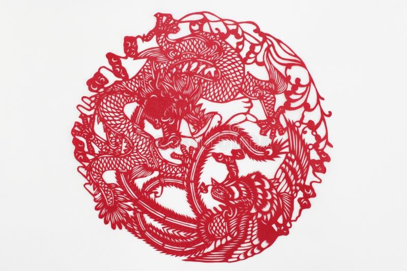 Papier de coupe de la Chine à la main photos libres de droits