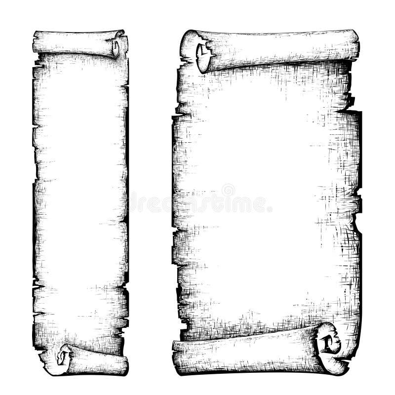 Papier de défilement illustration de vecteur