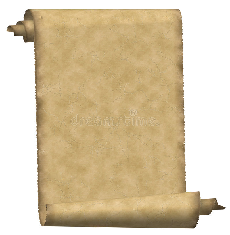 Papier de défilement de cru illustration de vecteur
