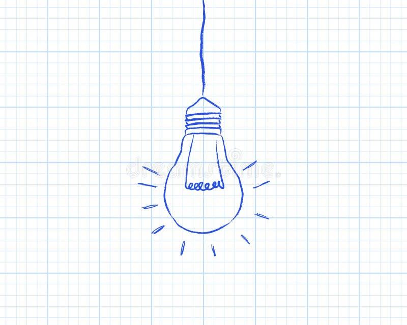 Papier de graphique accrochant d'ampoule illustration libre de droits