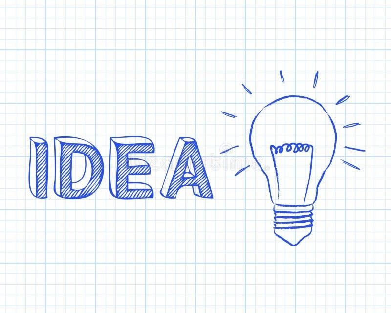 Papier de graphique d'ampoule d'idée illustration stock