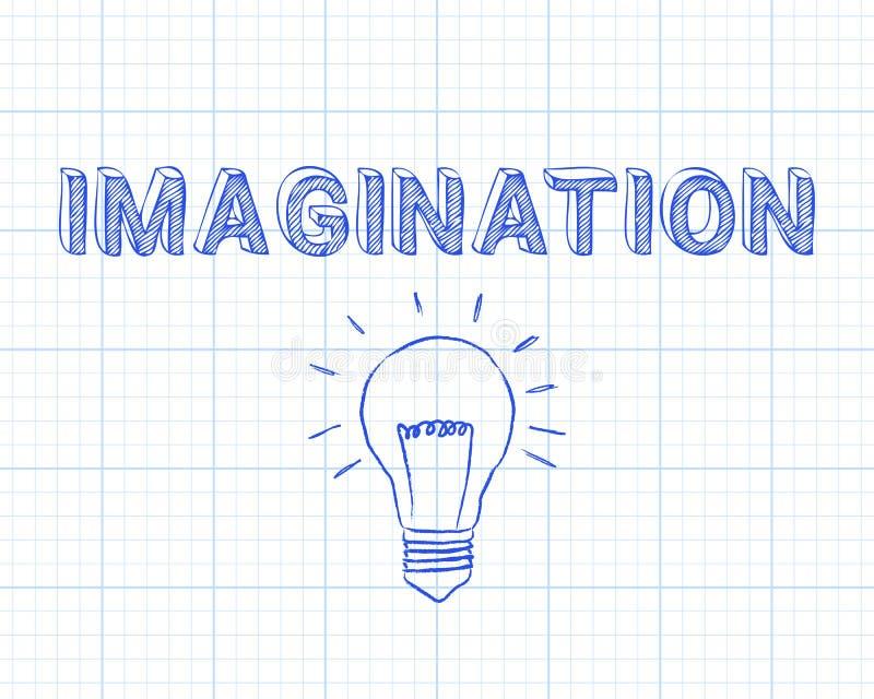 Papier de graphique d'ampoule d'imagination illustration de vecteur