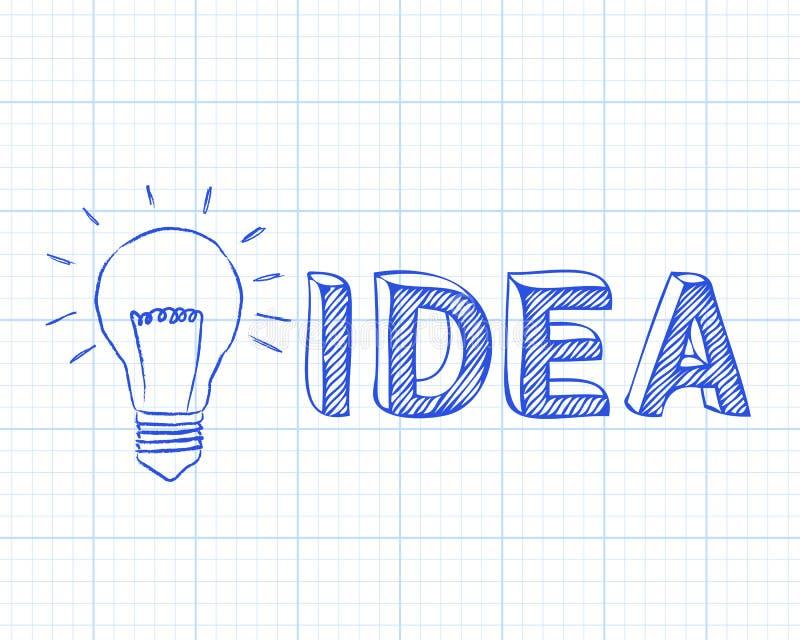 Papier de graphique d'idée d'ampoule illustration libre de droits