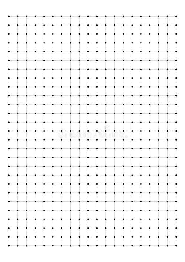 Papier de graphique de Dot Grid Paper 1 cm sur le vecteur blanc de fond illustration libre de droits