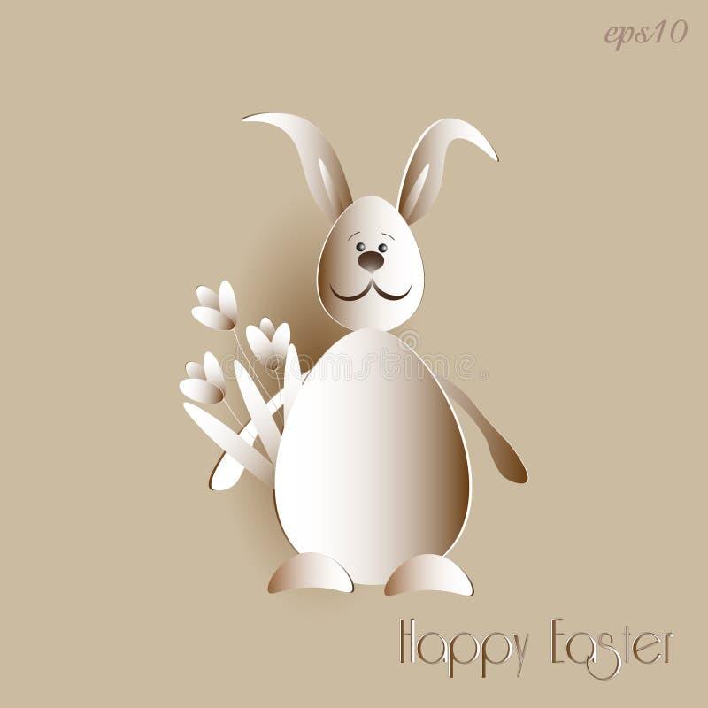 Papier de lapin de Pâques illustration libre de droits