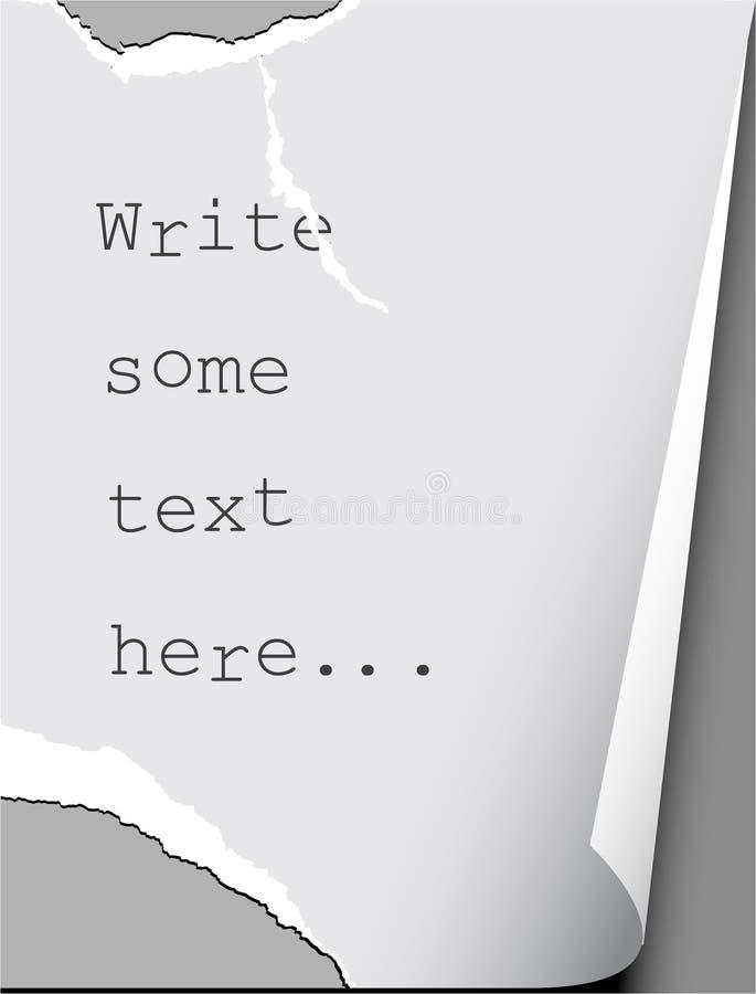 Papier de larme illustration stock