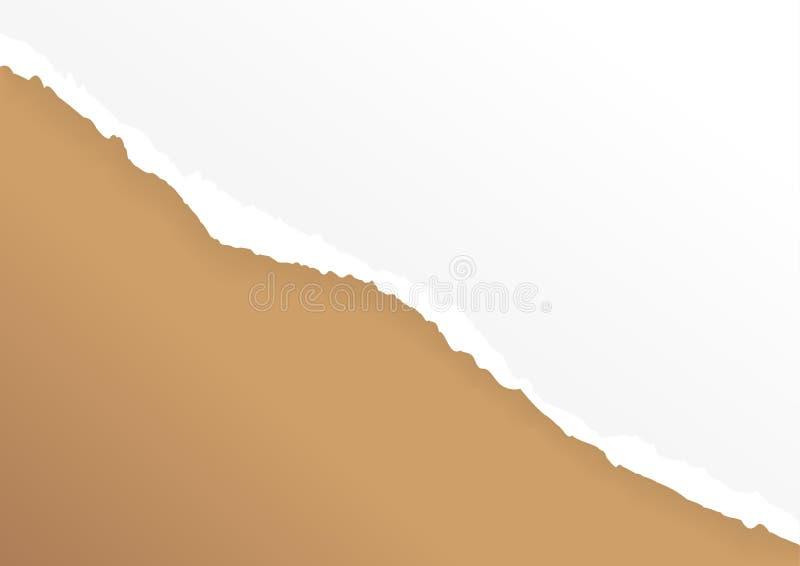Papier de larme sur le fond abstrait Illustration de vecteur illustration stock