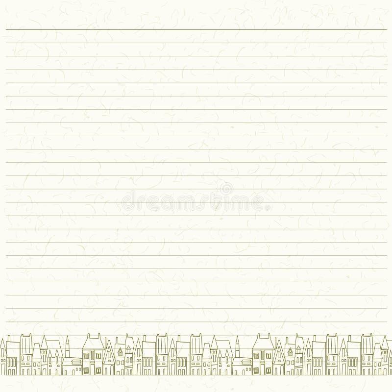 Papier de lettre de village illustration libre de droits