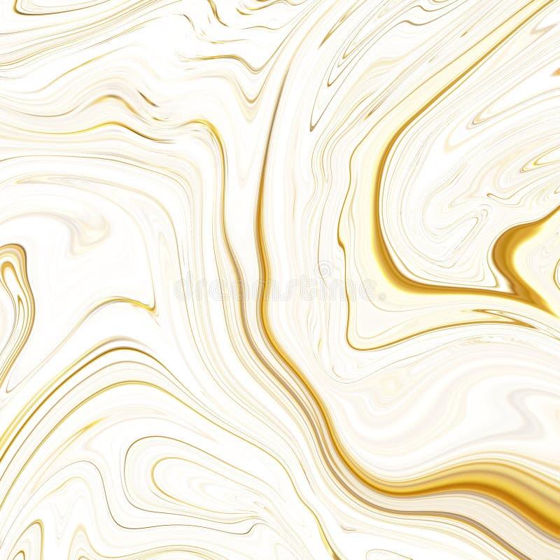 Papier de marbre de Digital d'or, texture de marbre Illustration de Digital Le fond abstrait, fond pour imprimer, emballage, couv illustration de vecteur