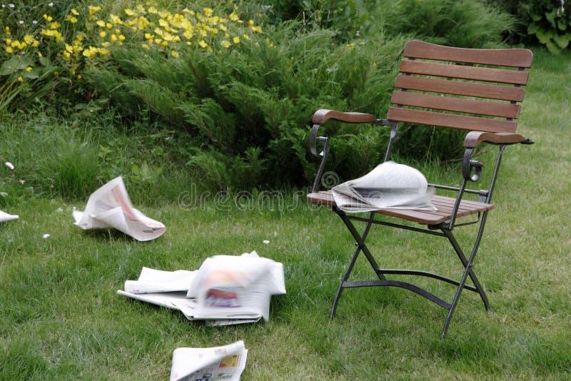 Download Papier de matin de vol image stock. Image du jardin, reading - 4350511