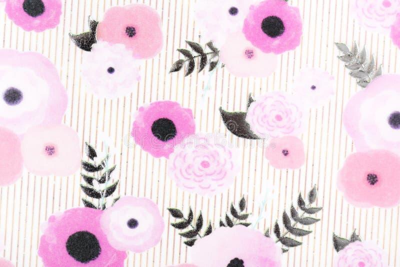 Papier de modèle de fleurs pour l'écharpe extérieure d'enveloppe de cadeau d'impression de couvertures de motifs de remplissage d images libres de droits