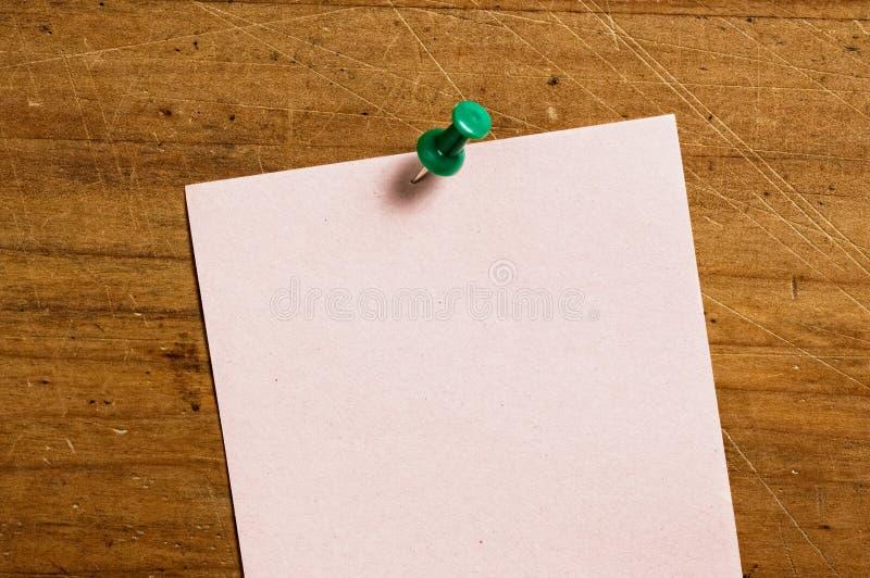 Papier de note à bord images stock