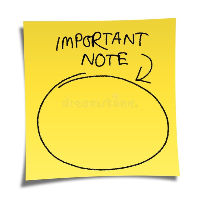 Papier de note illustration stock