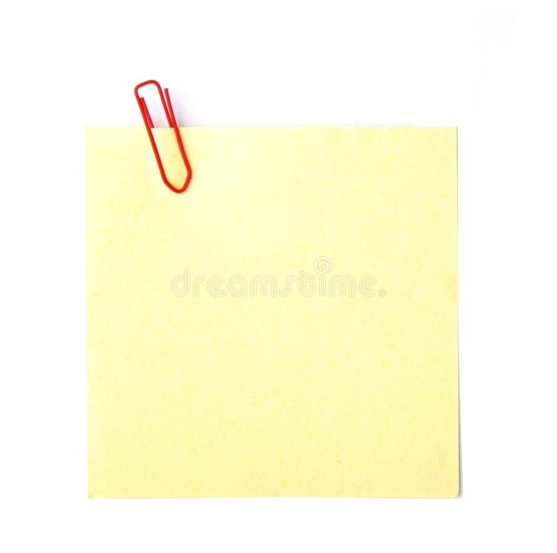 Papier de note photo stock