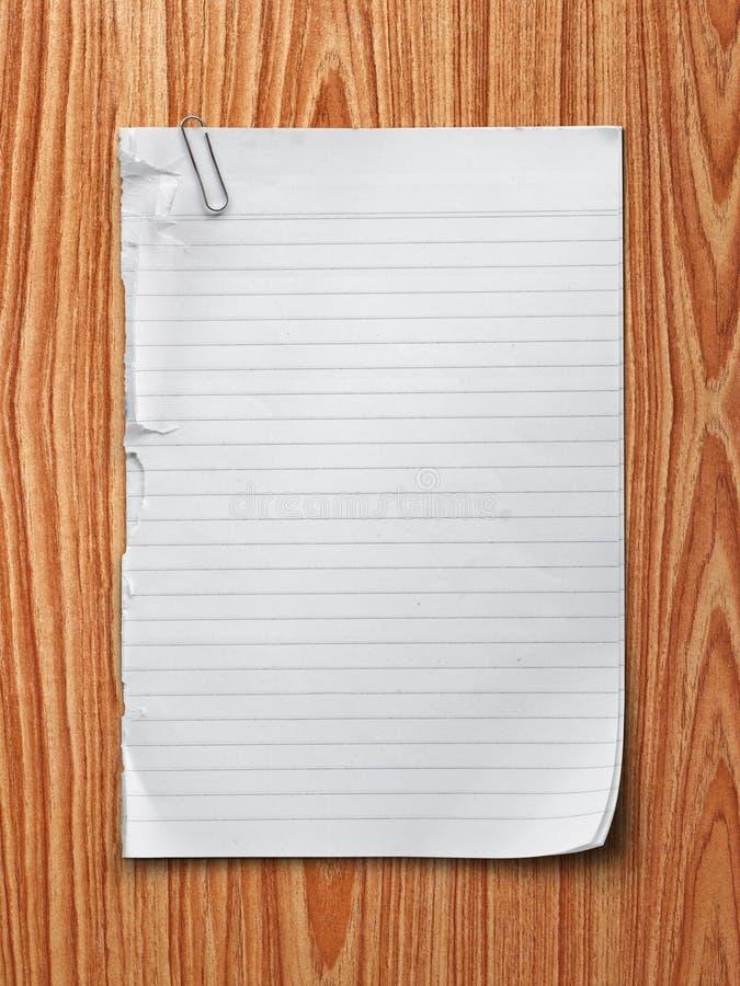 Papier de note photographie stock