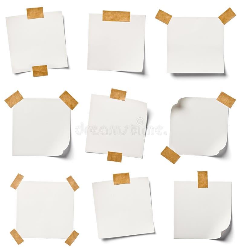 Papier de note blanc photo libre de droits