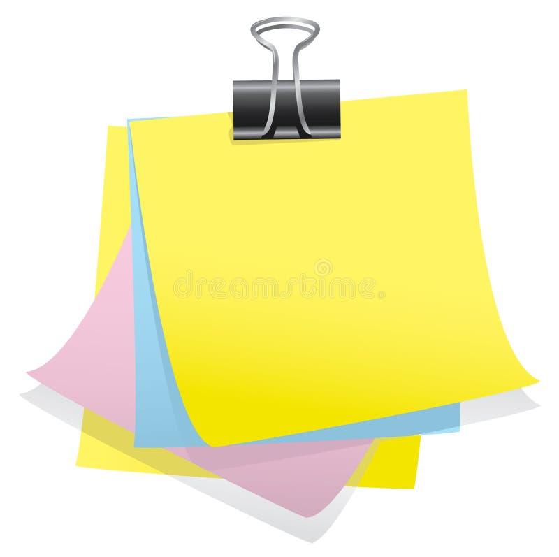 papier de note de clip de bouledogue illustration de vecteur