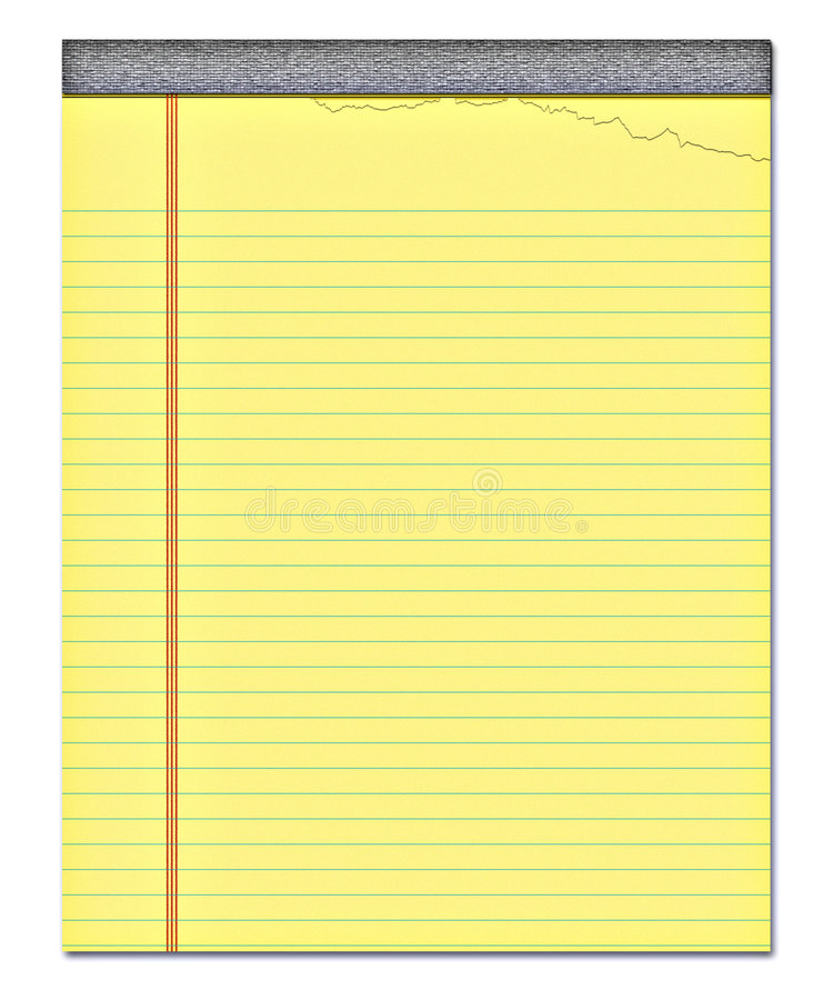 Papier de note jaune de bloc-notes   illustration stock