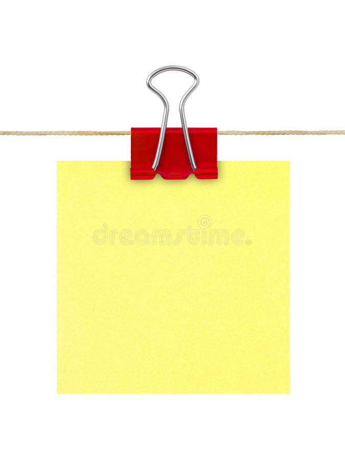 Papier de note jaune de post-it photo libre de droits