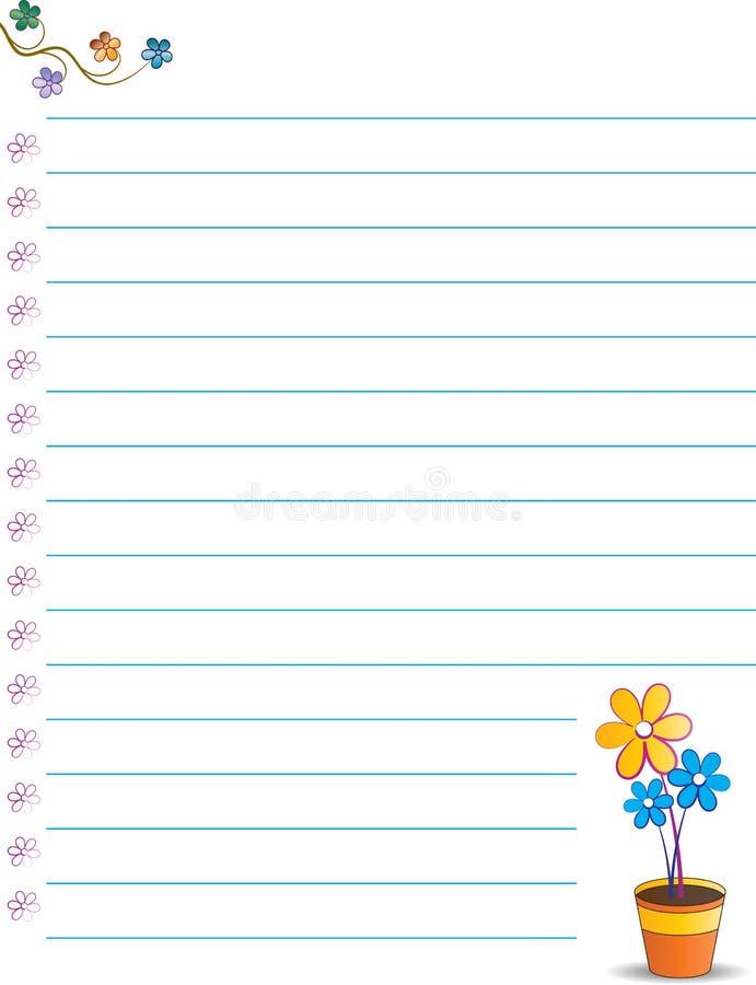 Papier de note mignon illustration stock