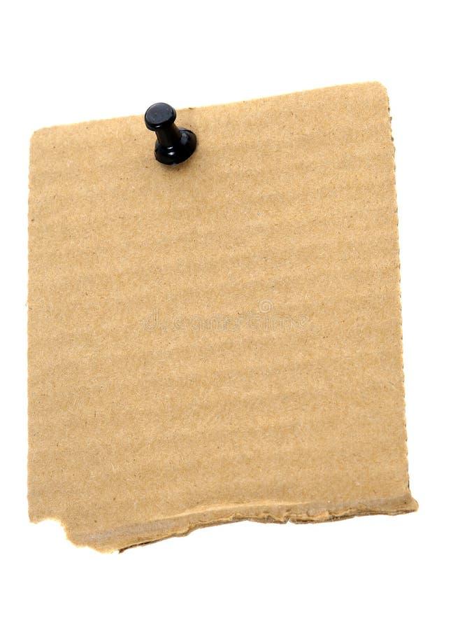 Papier de note réutilisé de carton image stock