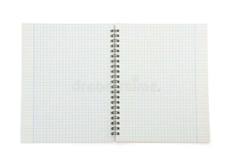 Papier de note vérifié sur le blanc photographie stock