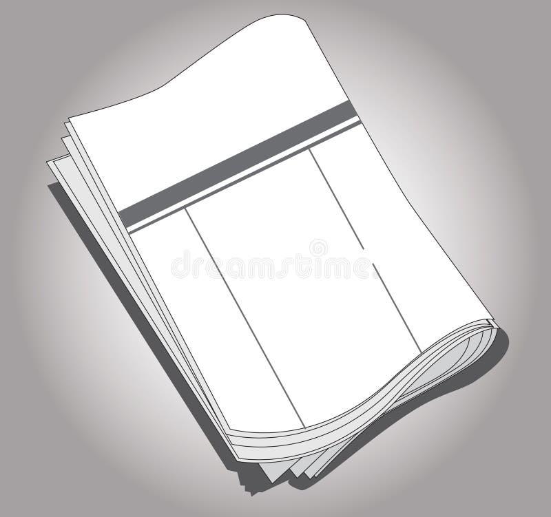 Papier de nouvelles illustration stock