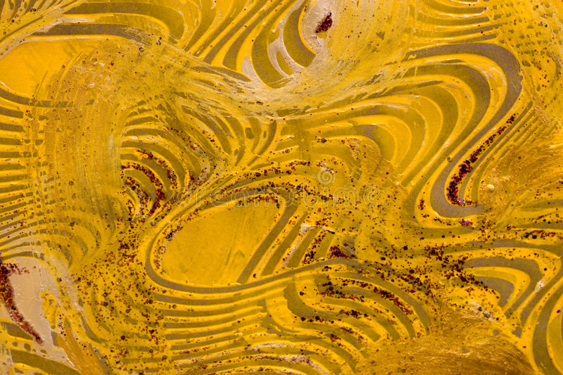 Papier de pâte : Remous jaunes et verts illustration de vecteur